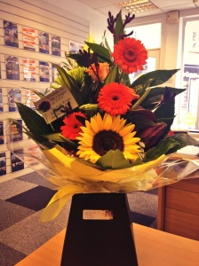 Beautiful flowers from a happy buyer.  We also sold this clients home too!